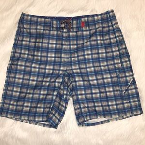 The North Face Plaid Swim Trunks Board Shorts